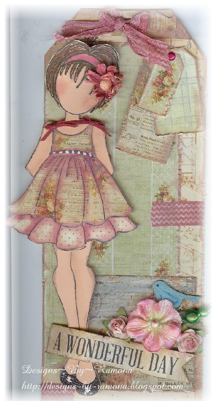 Prima Julie Nutting Doll Stamp Tag