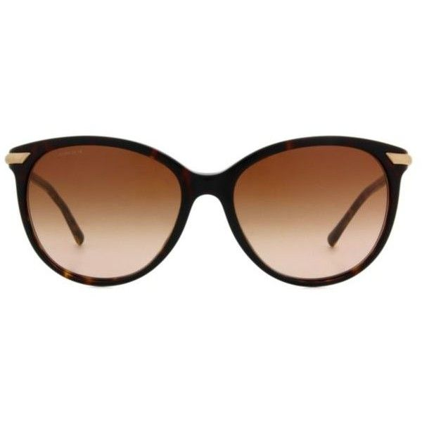 Burberry BE4186 Women's Sunglasses ($239) ❤ liked on Polyvore featuring accessories, eyewear, sunglasses, tortoise, tortoise sunglasses, tortoise shell glasses, acetate sunglasses, burberry and retro glasses