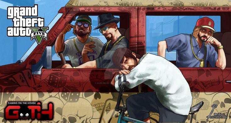 GOTH GTA V - Los Ganstal   by Aldo-Delso-Illanes