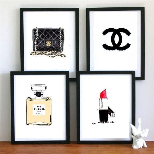 Cuadros de modas para la pared. #Chanel