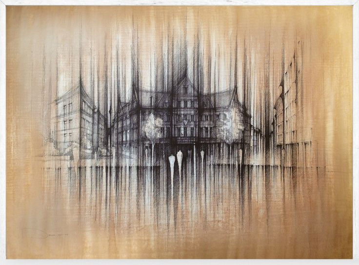 YMCA BUILDING - Bratislava  Drawing on paper, 100x70cm, coffe, ink, water, cryon © Pavel Filgas 2016  https://www.facebook.com/Pavel-Filgas-Atelier-500412180019911/  http://pavelfilgas.com/  https://www.instagram.com/pavelfilgas/