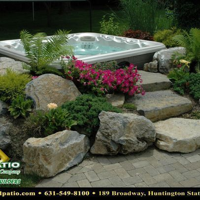 Spa Hot Tub Landscaping Design Ideas Pictures Remodel And Decor Iffygarden Garden More