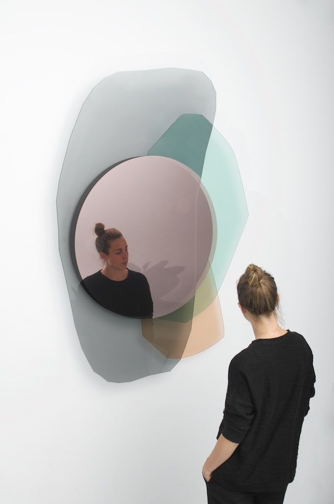 Week of December 4, 2017 - Huskdesignblog | OS & OOS, Repeated Mirrors | glass mirror | colorful mirror | wall mirror | design mirror | design glass | product design | object design | unique piece | limited edition | Gabriel & Guillaume gallery | decorative arts | Lebanese gallery | contemporary design | modern design | dutch design | rounded glass matter | rounded mirror