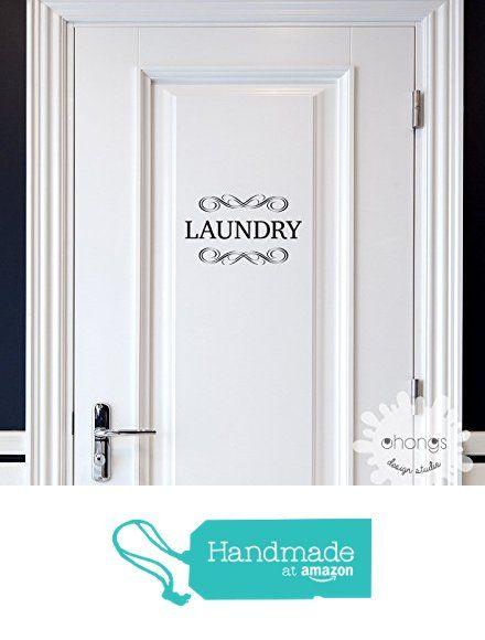 Laundry Decal / Door Decal / Pantry Door Decal / Restroom Decal / Office Sticker / Door Letters Decal / Custom Letter Decal from Ohongs Design Studio