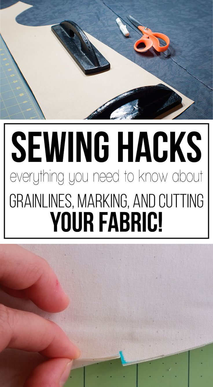 Everything you need to know about grainlines, marking, and cutting your fabric