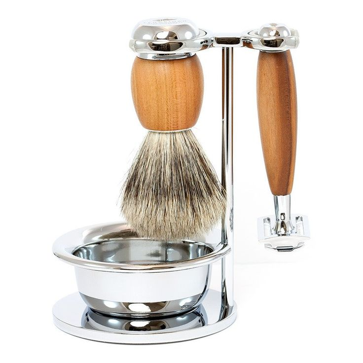 You may be drawn to the beauty of the clear, blond hue of the handles of the Fendrihan Dacian Draco 4-Piece Shaving Set with Safety Razor and Best Badger Brush,