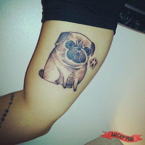 Arm Pug Tattoos Picture Gallery | Sleeve Pug Tattoo Designs
