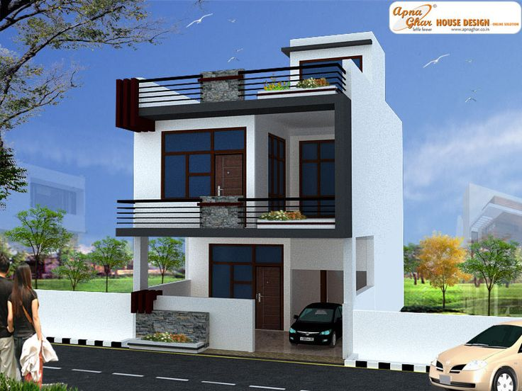2 bedrooms independent floor design in 126m2 6m x 21m 2 floor house