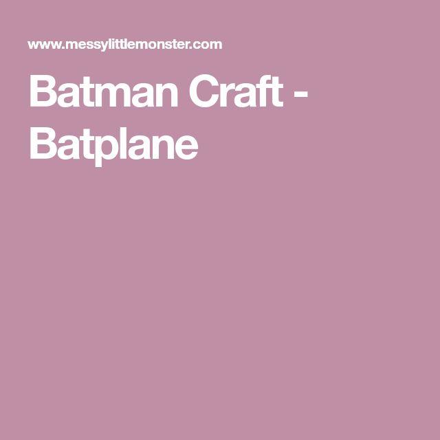 Batman Craft - Batplane