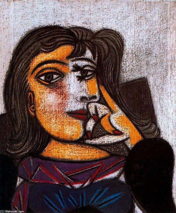 'Porträt von Dora Maar', 1937 von Pablo Picasso (1881-1973, Spain)