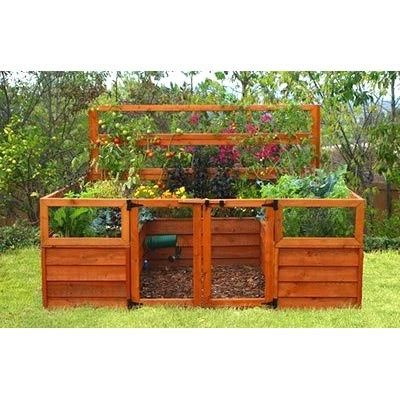 Enclosed raised bed to protect vegetable garden from for Enclosed vegetable garden designs