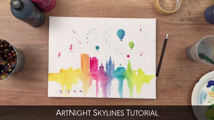 Video instructions: Skyline painting