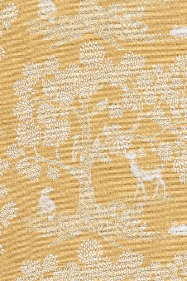 Gold Enchanted Wood Fabric