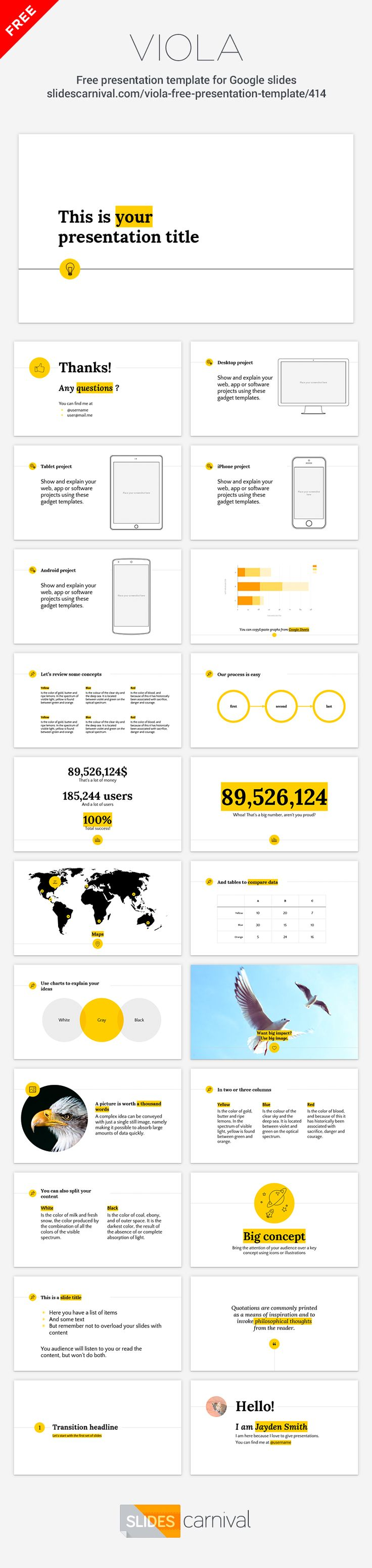 Your content will shine with this presentation template thanks to its minimal…