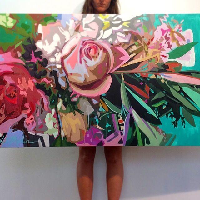 """Flower Explosion"" Painting by Kate Mullin  www.katemullinart.com"