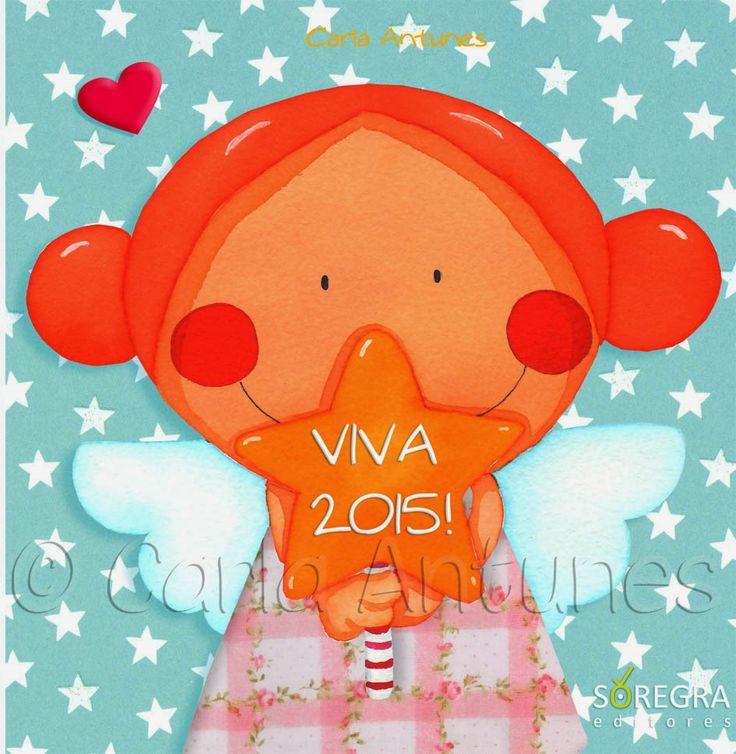 "Capa da Agenda ""VIVA 2015!"" - Ilustração de Carla Antunes / Diary cover of ""VIVA 2015!"" - Carla Antunes Illustration"