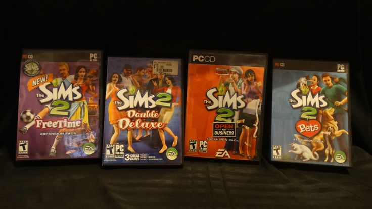 Lot of 4 Sims PC Games