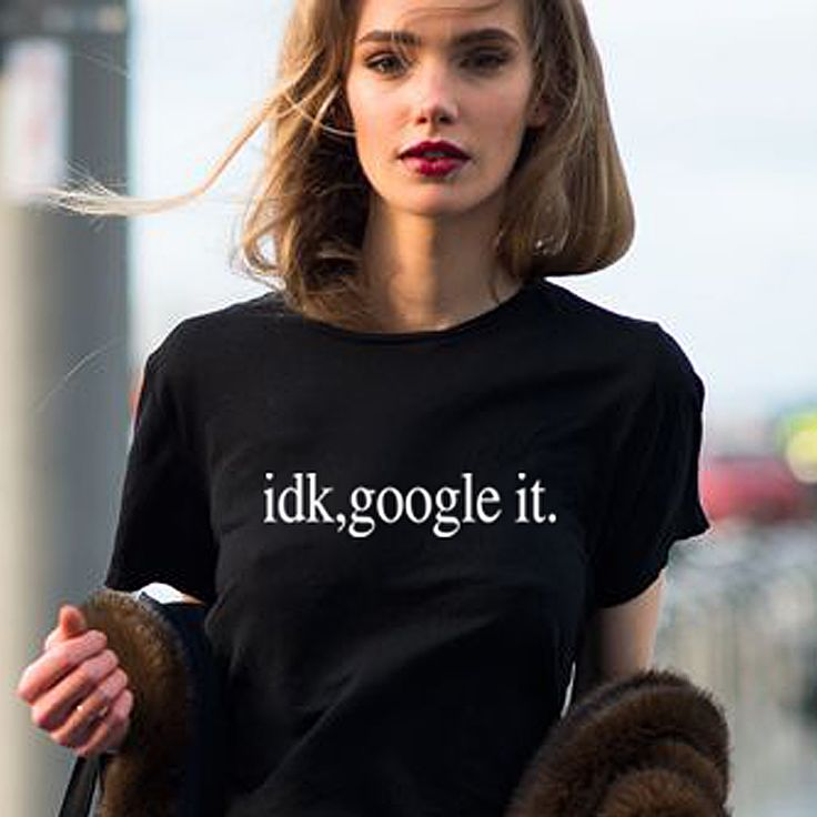 She is in idk, google it tees for Hangout