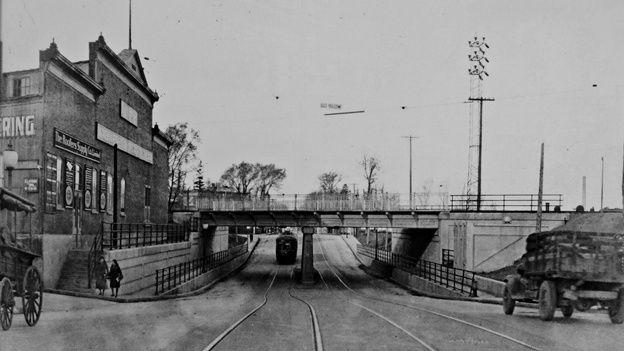 Chemin de la Canardière, tramway 1930
