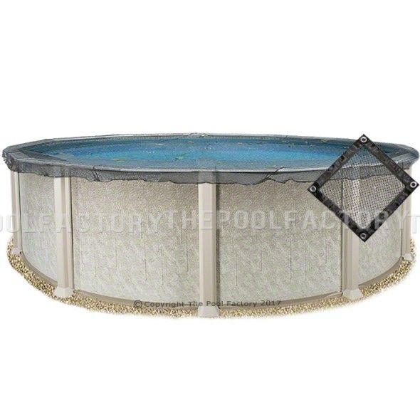 24\' Round Leaf Net Cover in 2019 | Winter pool covers, Round ...