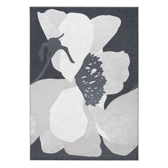 Liven up your living room with the bold Mirande rug in grey by the Finnish design brand Vallila interior. The pattern was designed by Marjatta Metsovaara, featuring a large-scale floral pattern. The rug is a great addition in the living room or hallway. Available in different sizes.