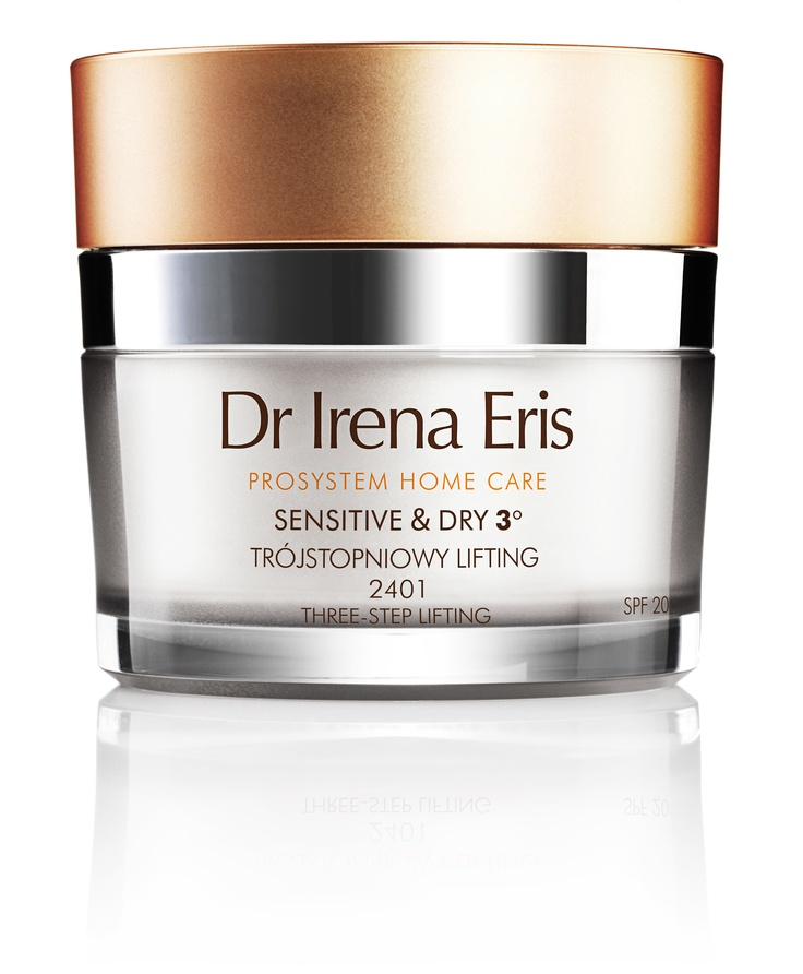 PHC 2401 SENSITIVE & DRY THREE-STEP LIFTING Day face cream SPF 20 available for purchase in Dr Irena Eris Cosmetic Institutes