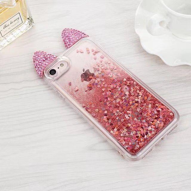 For iPhone 6 s plus Cat Case Fashion 2017 Liquid Quicksand Cute Cat Phone  Cases For
