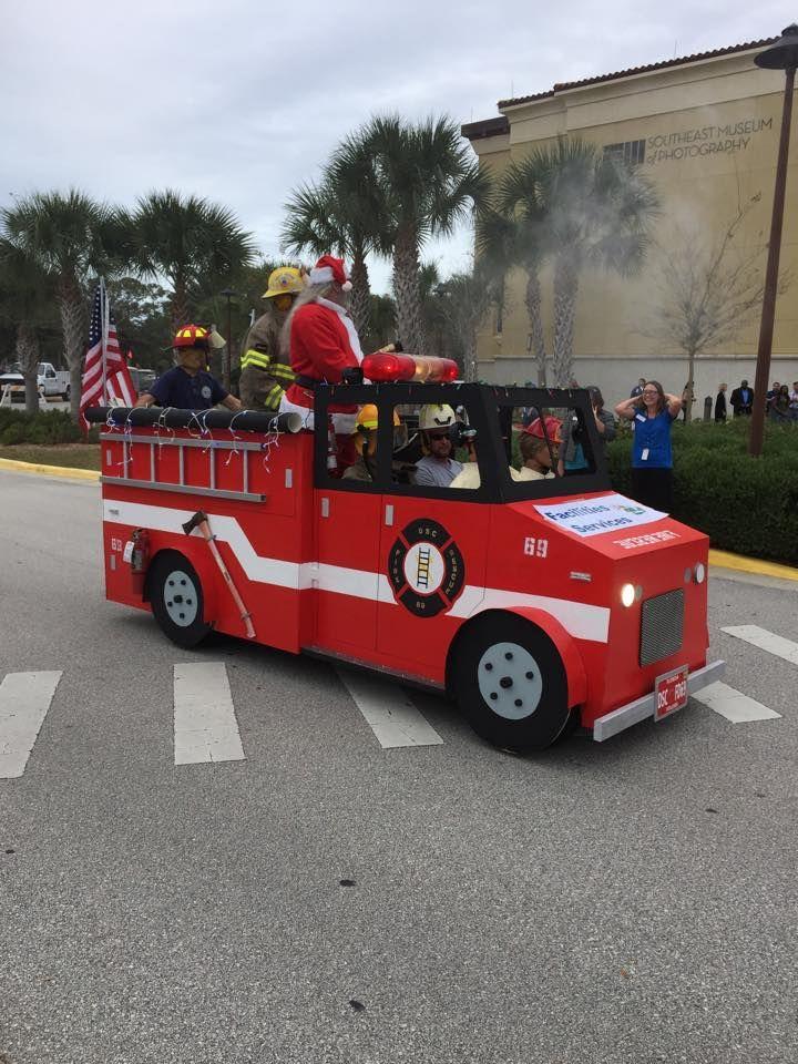 57 Fire Truck Golf Cart Long Bed