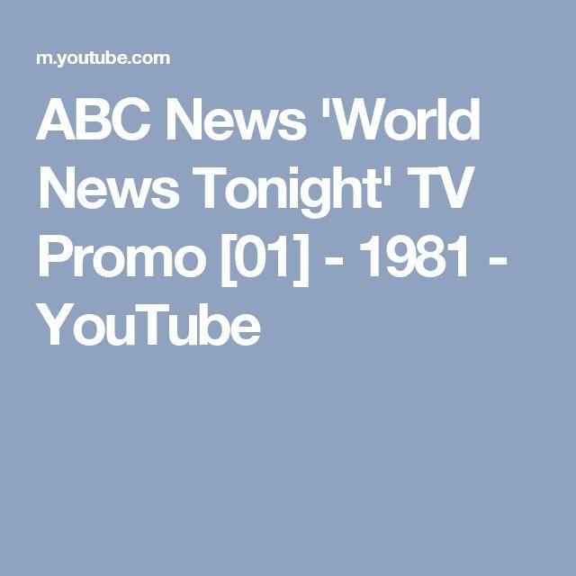 ABC News 'World News Tonight' TV Promo [01] - 1981 - YouTube