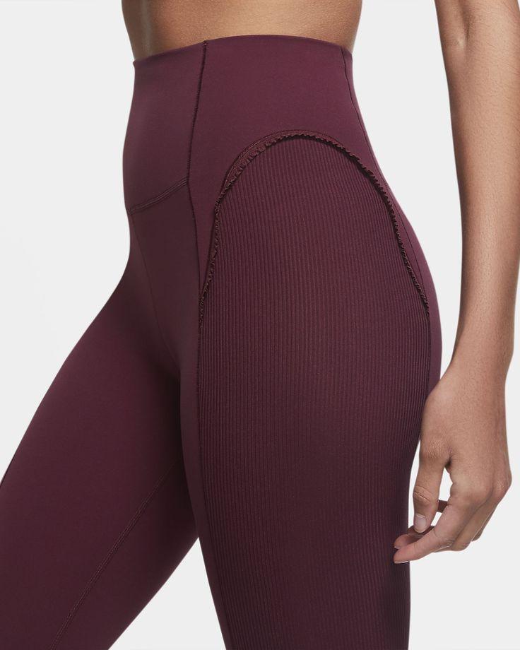 Nike Yoga Luxe Women's Infinalon Ruffled 7/8 Tights. Nike