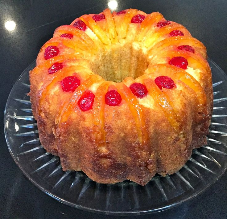 My Mother's Apron Strings: Upside-Down Pineapple Bundt Cake