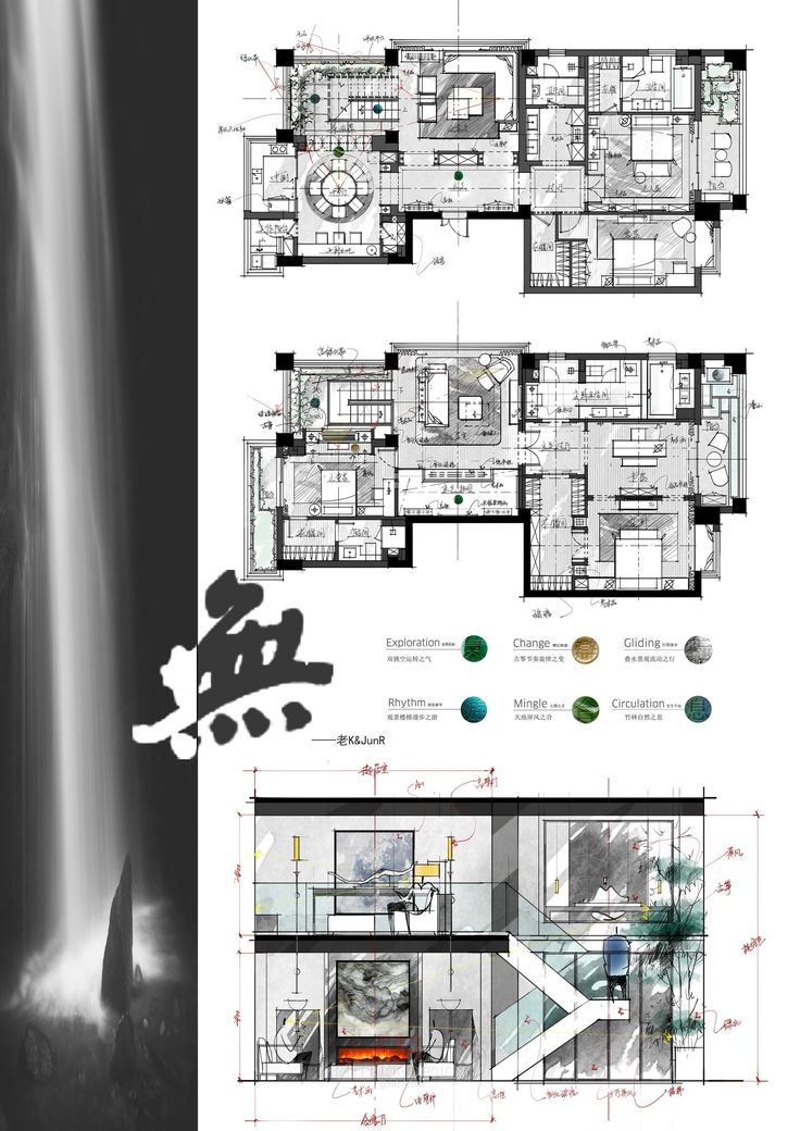 Best Architectural Drawings Images On Pinterest Floor Plans