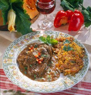 Lajos Mari konyhája - Rozsdás hús sütőtökrösztivel