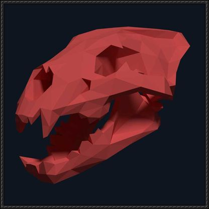 Lion Head Skull Free Papercraft Download - http://www.papercraftsquare.com/lion-head-skull-free-papercraft-download.html