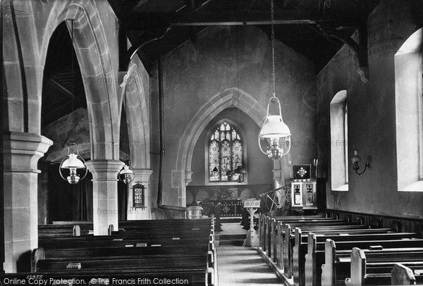 West Witton, Church Interior 1911, from Francis Frith