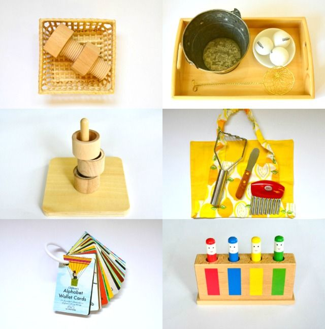 Montessori Child Toddler Activities at 12 months, one year old, Montessori at home, Care Pack
