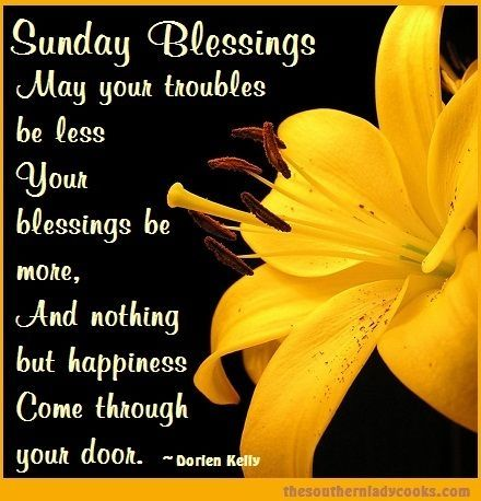 Sunday Blessings days of the week sunday blessings sunday quotes happy sunday…