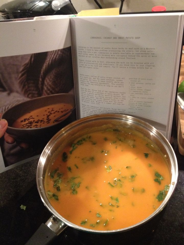 Lemongrass, Coconut and Sweet Potato Soup (Recipe by The Extra Virgin Kitchen)