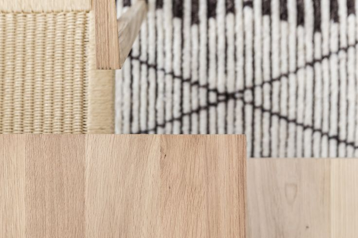 Details of the Urban Loom Chair and the Ethnicraft Oak Double Dining Table.
