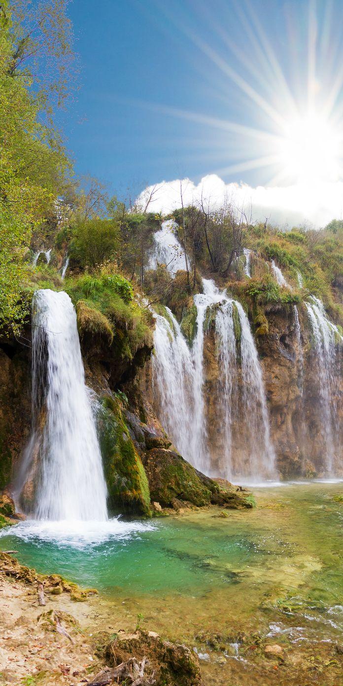 Beautiful falls of Plitvice national park in Croatia