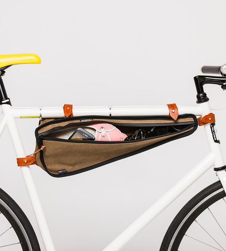 Weatherproof Canvas Bike Frame Bag by The Beebe Company on Scoutmob