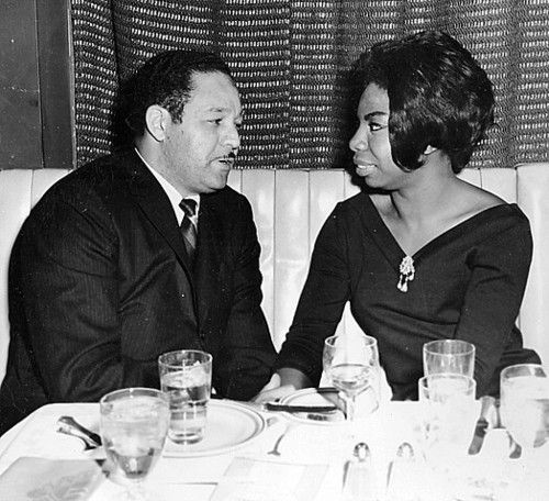 Nina Simone and her husband Andy Stroud.