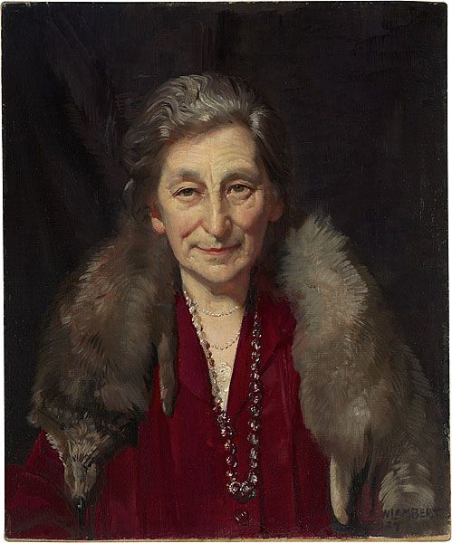 1927: George W. Lambert – The winning Archibald Prize portrait was 'Mrs Murdoch', who was the mother of journalist Keith Murdoch. He commissioned this portrait of his mother Annie, née Brown. She was the wife of the Reverend Patrick John Murdoch, and grandmother of Rupert.