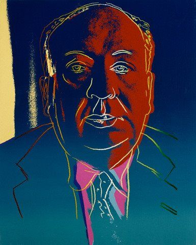 Alfred Hitchcock par Andy Warhol, 1980.                                                                                                                                                      More