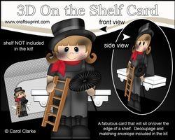3D On The Shelf Card Kit - Little Chimney Sweep Lucky Laela