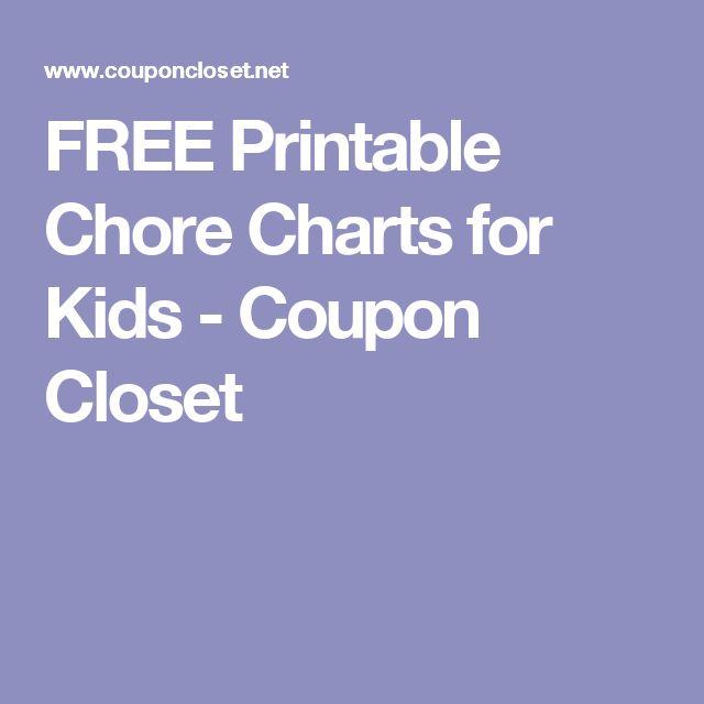 FREE Printable Chore Charts for Kids - Coupon Closet