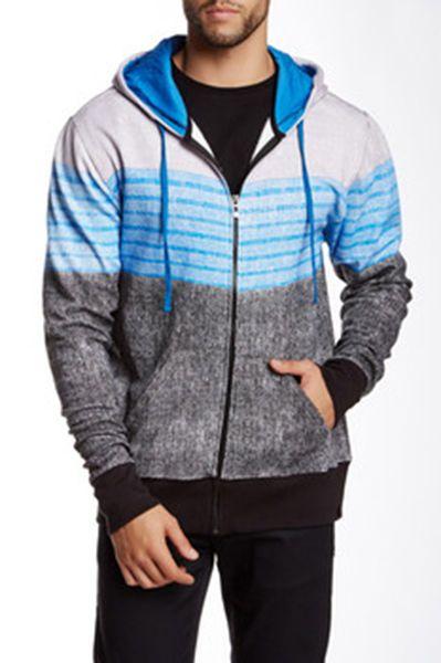 Burnside Multi Color Zip Up Hoodie Sweater Grey/Blue/Black SIZE M , L, XL, 2XL #Burnside #Hoodie