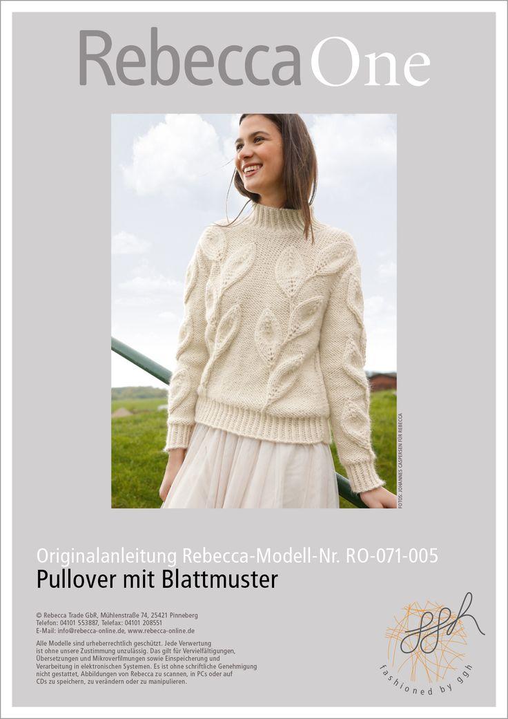 Strickanleitung - Pullover mit Blattmuster | Strickmuster | Rebecca