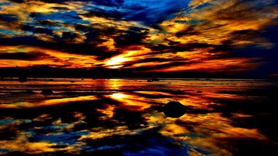 Sunset from beach area 6, Wasaga Beach Canada
