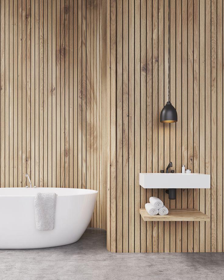 ♡ Pinterest // @annnna123 #bathroom #wood #wall #concrete #nordic #rustic #sauna #noors